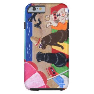 Pintura de Labradors de la brisa del verano Funda De iPhone 6 Tough