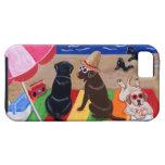 Pintura de Labradors de la brisa del verano iPhone 5 Case-Mate Cárcasas