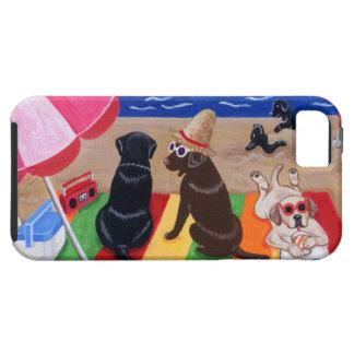 Pintura de Labradors de la brisa del verano iPhone 5 Funda