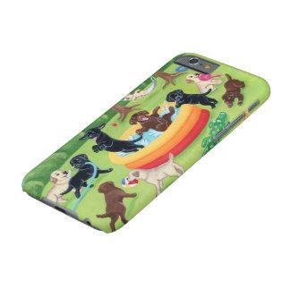 Pintura de Labradors de la diversión del verano Funda Para iPhone 6 Barely There