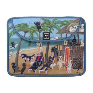 Pintura de Labradors de las vacaciones de verano d Funda Para Macbook Pro