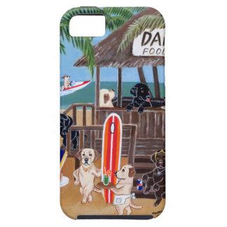 Pintura de Labradors de las vacaciones de verano iPhone 5 Fundas
