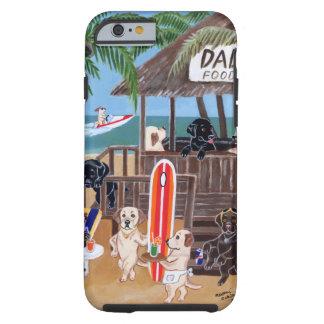 Pintura de Labradors de las vacaciones de verano Funda De iPhone 6 Tough