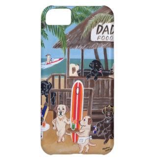 Pintura de Labradors de las vacaciones de verano Funda Para iPhone 5C