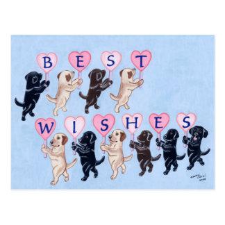 Pintura de Labradors de recuerdos Tarjeta Postal