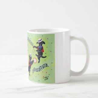 Pintura de Labradors del mambo Tazas De Café