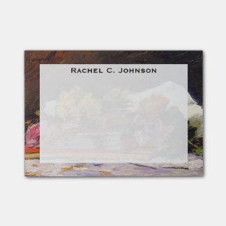 Pintura de las flores de Gauguin del monograma Notas Post-it®
