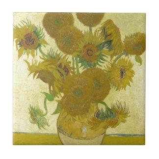 Pintura de las flores de los girasoles 1888 de Vin Tejas Ceramicas