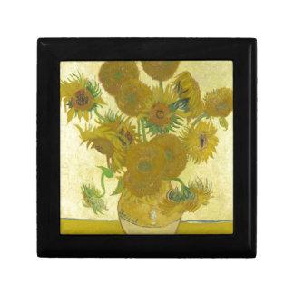 Pintura de las flores de los girasoles 1888 de Vin Cajas De Regalo