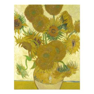 Pintura de las flores de los girasoles 1888 de Vin Membrete