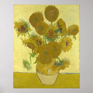 Pintura de las flores de los girasoles 1888 de Vin Impresiones