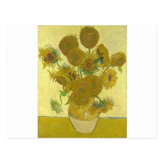 Pintura de las flores de los girasoles 1888 de Vin Postales