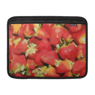 Pintura de las fresas fundas para macbook air