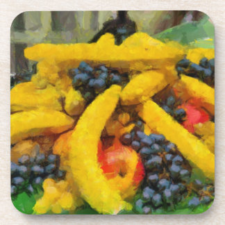Pintura de las frutas posavaso