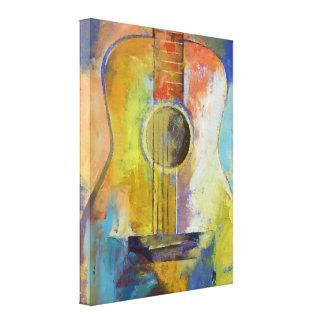 Pintura de las melodías de la guitarra lona envuelta para galerias