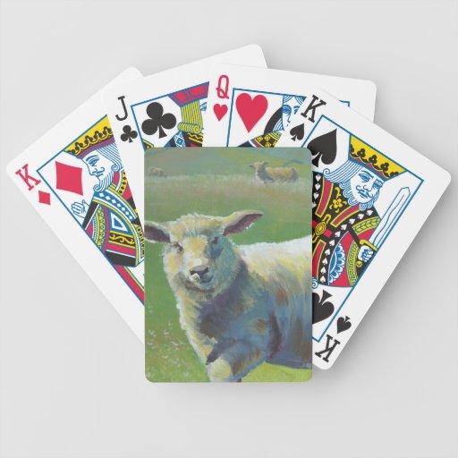 Pintura de las ovejas baraja cartas de poker