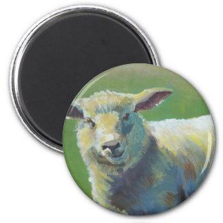 Pintura de las ovejas imán para frigorífico