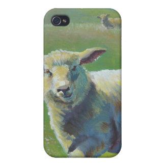 Pintura de las ovejas iPhone 4 protectores