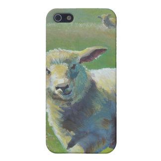 Pintura de las ovejas iPhone 5 funda
