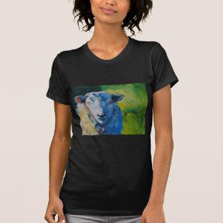 Pintura de las ovejas camiseta