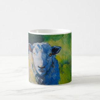 Pintura de las ovejas taza de café