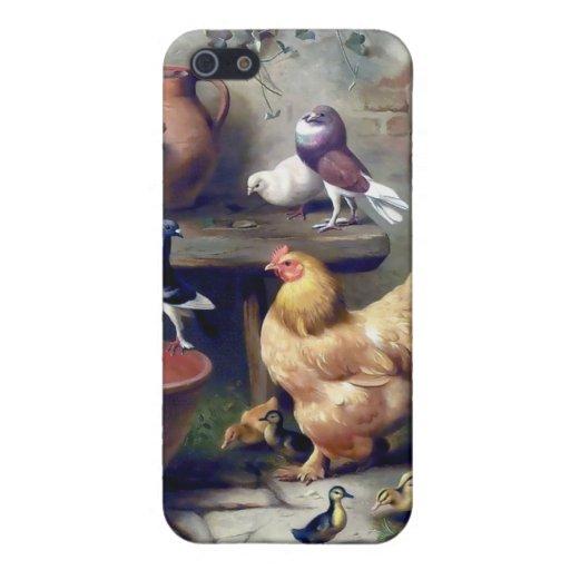 Pintura de las palomas de los anadones de la galli iPhone 5 carcasas