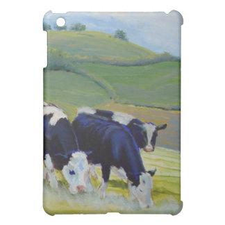 Pintura de las vacas blancos y negros del Holstein