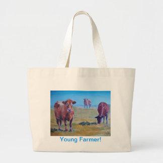 pintura de las vacas bolsas de mano