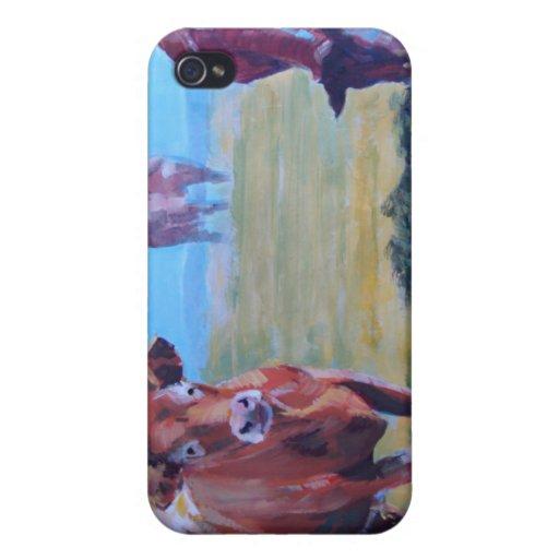 Pintura de las vacas iPhone 4/4S funda