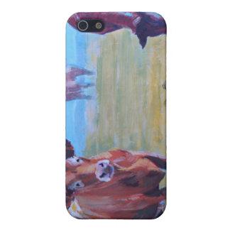 Pintura de las vacas iPhone 5 carcasa