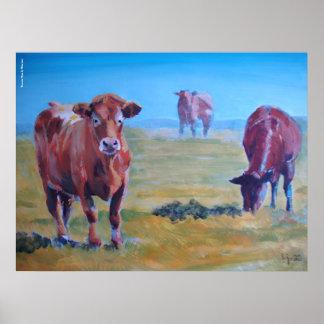 pintura de las vacas poster