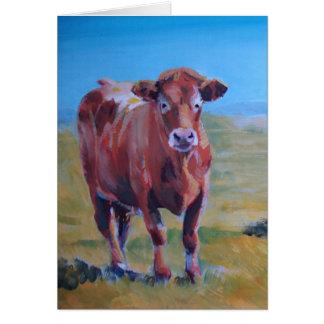 pintura de las vacas tarjeta de felicitación