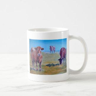 Pintura de las vacas taza clásica