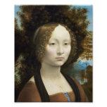 Pintura de Leonardo da Vinci Ginevra de' Benci Cojinete