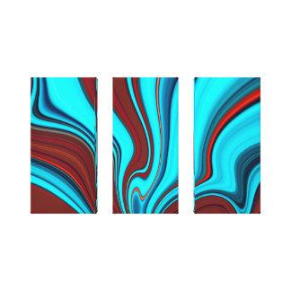 pintura de los 3 paneles lona estirada galerias