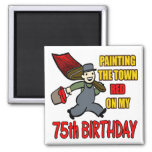 Pintura de los 75.os regalos de cumpleaños de la c imanes de nevera