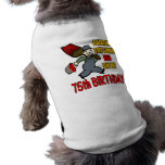 Pintura de los 75.os regalos de cumpleaños de la c camiseta de perrito