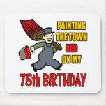 Pintura de los 75.os regalos de cumpleaños de la c tapete de raton