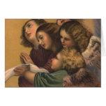 Pintura de los ángeles del vintage tarjeta de felicitación
