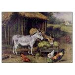 Pintura de los animales del campo de pollo de los tabla para cortar