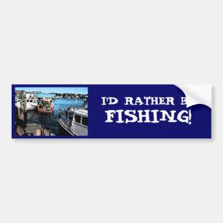 Pintura de los barcos de pesca pegatina para auto