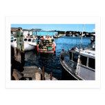 Pintura de los barcos de pesca postal