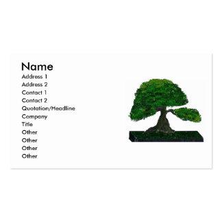 Pintura de los bonsais, árbol viejo vertical #2 plantillas de tarjetas de visita