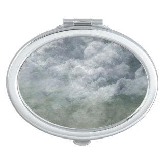 Pintura de los cielos nublados espejos de viaje