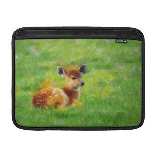 Pintura de los ciervos funda  MacBook