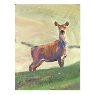 Pintura de los ciervos postales
