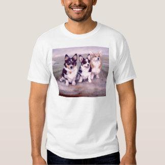 Pintura de los Corgis Galés del Pembroke Camisas