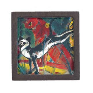 pintura de los gatos caja de joyas de calidad
