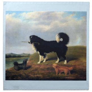 Pintura de los mascotas de Norfolk Terrier del per Servilletas Imprimidas