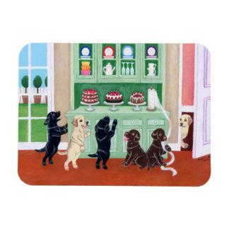 Pintura de los perritos de Labrador del armario Imán Rectangular